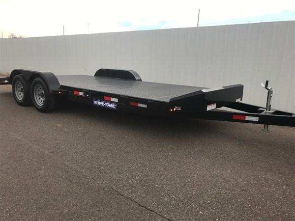2021 Sure-Trac Steel Deck Car Hauler Trailer
