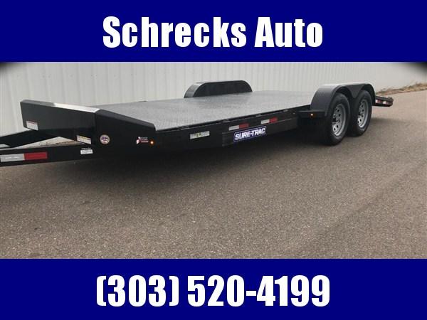 2019 Sure-Trac Steel Deck Car Hauler Trailer