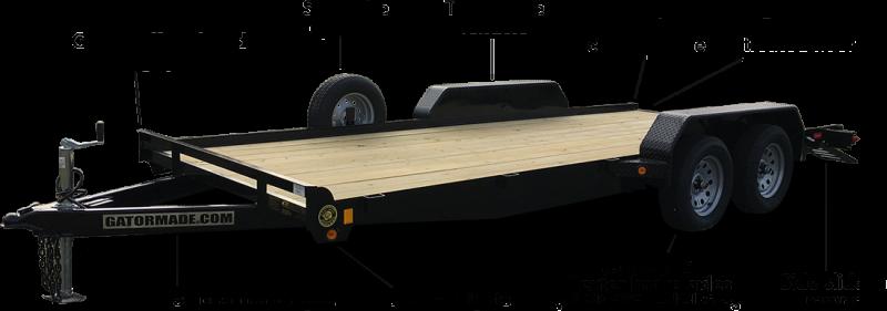 2021 Gatormade Trailers 20 Foot Lowboy Car Hauler Car / Racing Trailer