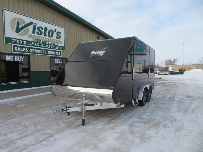 2021 Mission 7.5'X16' Enclosed Snowmobile Trailer MFS75164K