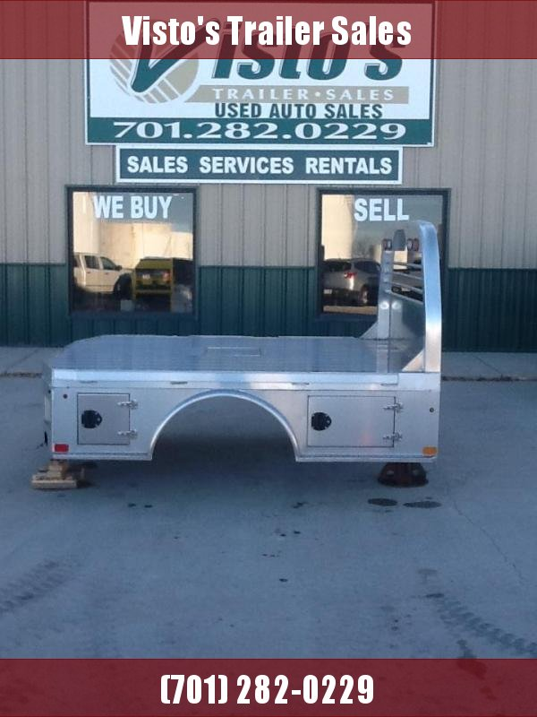 """2021 PJ Truck Beds ALGS 8'6""""x84"""" CTA 56""""/38"""" Aluminum Skirted Truck Bed 2 Boxes per Side"""