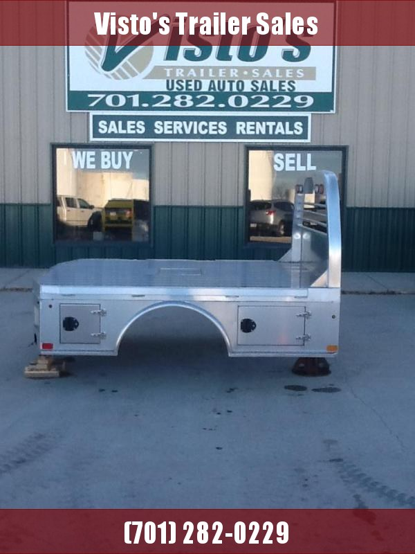 """2021 PJ Truck Beds ALGS 9'4""""x94"""" CTA 60""""/34"""" Aluminum Skirted Truck Boxes (Livestock and Dog)"""