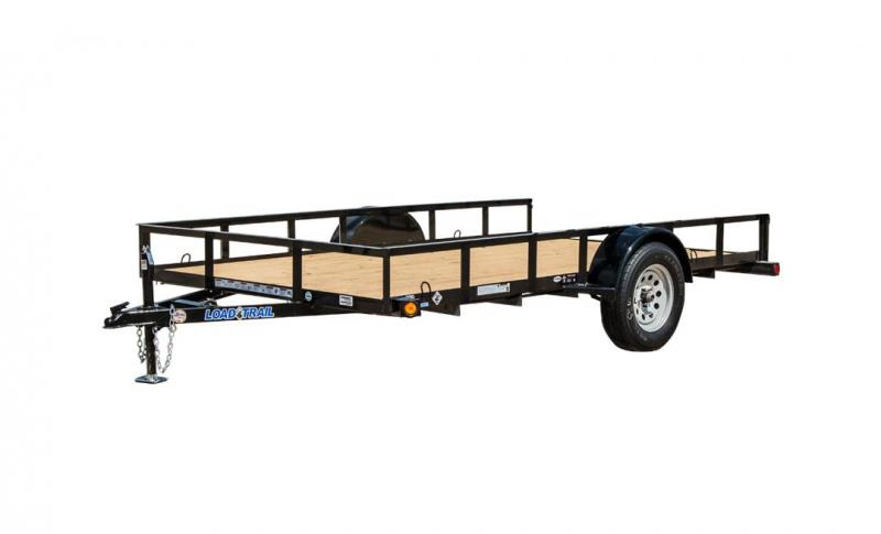 "2020 Load Trail 1 - 3500 Lb Dexter Spring (1 Idler Axle)St205/75 R15 Lrc 6 Ply. (black Wheels)Coupler 2"" A-frame CastTreated Wood FloorDiamond Plate Fenders (weld-on)Standard Deck (non Tilt)5' Fold In Gate Tubing W/exp. Metal24"" Cross-membersJack"