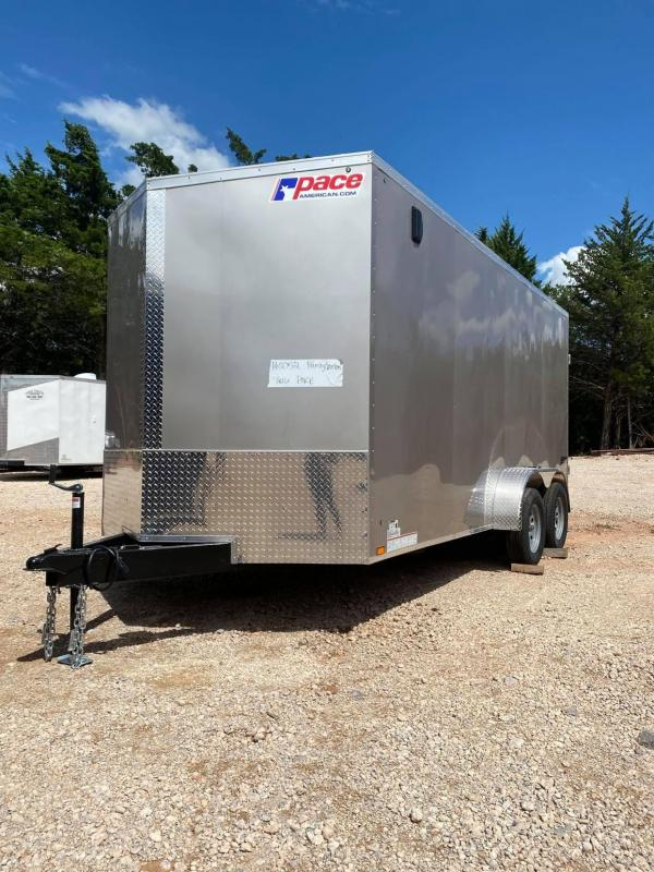 2021 Pace American 7x16 Tandem Axle Enclosed Cargo Trailer SCREWLESS EXTERIOR-- NEW!!!