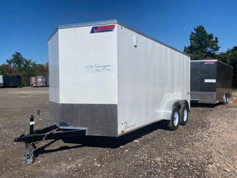 2022 Pace American 7x16 Tandem Axle Enclosed Cargo Trailer