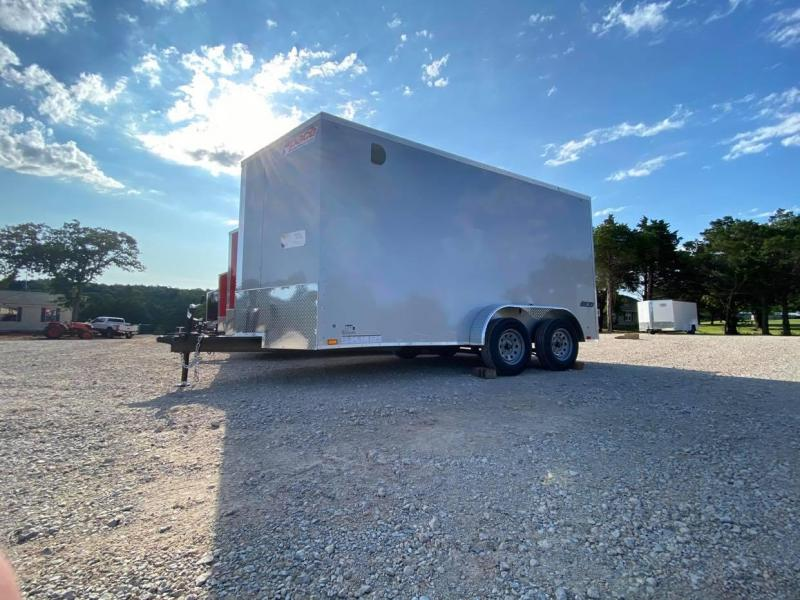 2021 Pace American 7X14 Tandem Axle Enclosed Cargo Trailer  SCREWLESS-- NEW!!