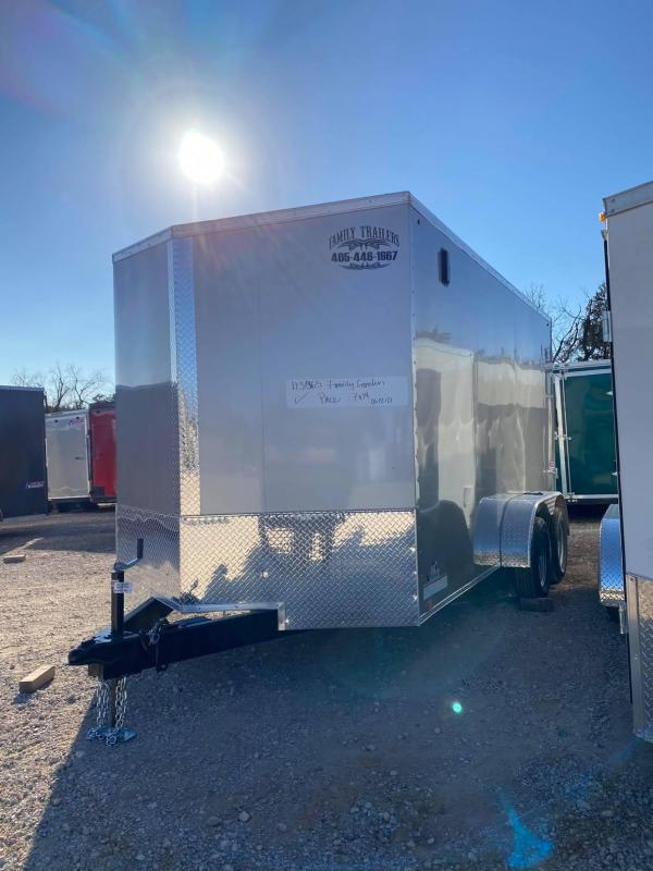 2021 Pace American 7X14 Tandem Axle Enclosed Cargo Trailer  NEW-- SCREWLESS EXTERIOR--