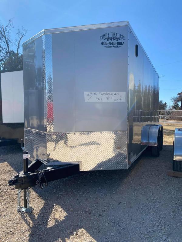2021 Pace American 7x16 Tandem Axle Enclosed Cargo Trailer-- SCREWLESS EXTERIOR --