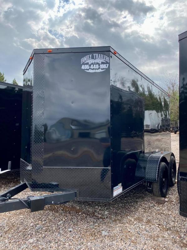 2021 Deep South 6x12TA2 Enclosed Cargo Trailer - Black Trim