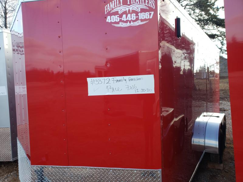 2021 Pace American 7x16 Tandem Axle Enclosed Cargo Trailer-- NEW!