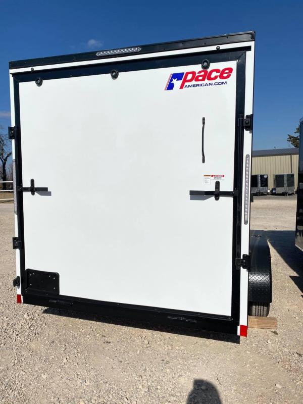 2021 Pace American 7X14 Tandem Axle Enclosed Cargo Trailer - NEW-- SCREWLESS EXTERIOR--