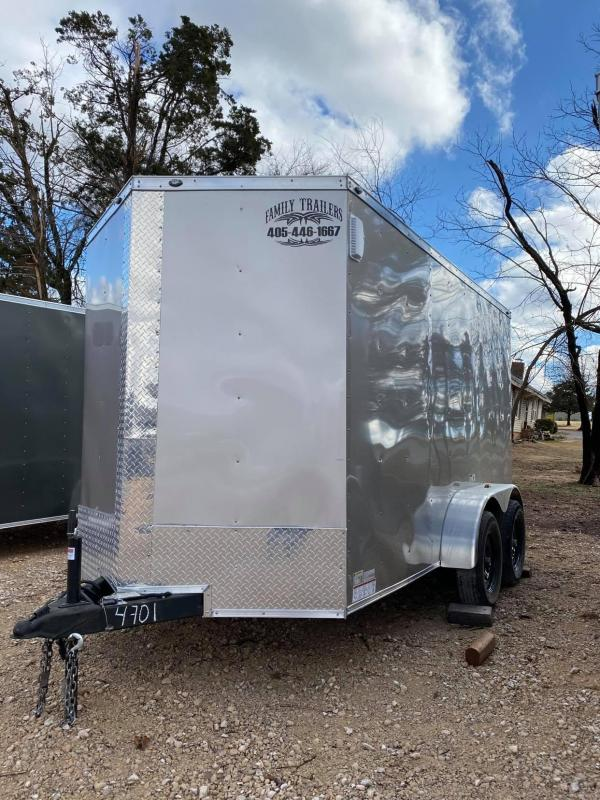 2020 Deep South 6x12 Tandem Axle Enclosed Cargo Trailer -  Silver Black Out Package