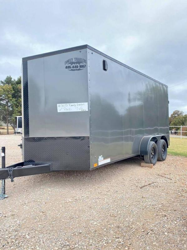 2021 Pace American 7x16 Tandem Axle Enclosed Cargo Trailer-- SCREWLESS!