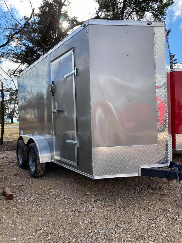 2021 Deep South 6x12 Tandem Axle Enclosed Cargo Trailer -  Silver Black Out Package
