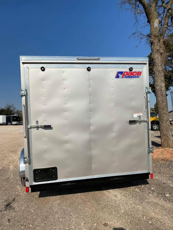 2021 Pace American 7x14 Tandem Axle Enclosed Cargo Trailer-- 6ft 6in in Height