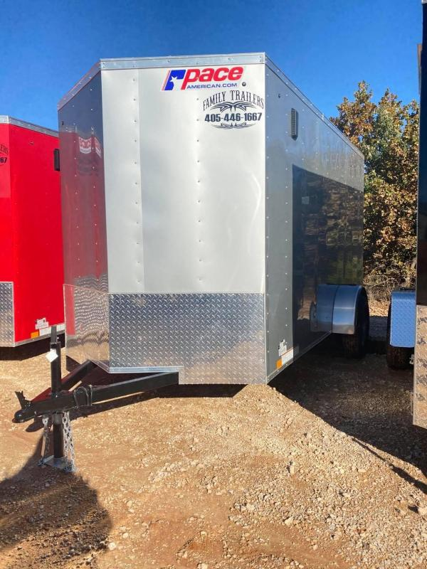 2021 Pace American 6x12 Single Axle Enclosed Cargo Trailer - NEW--
