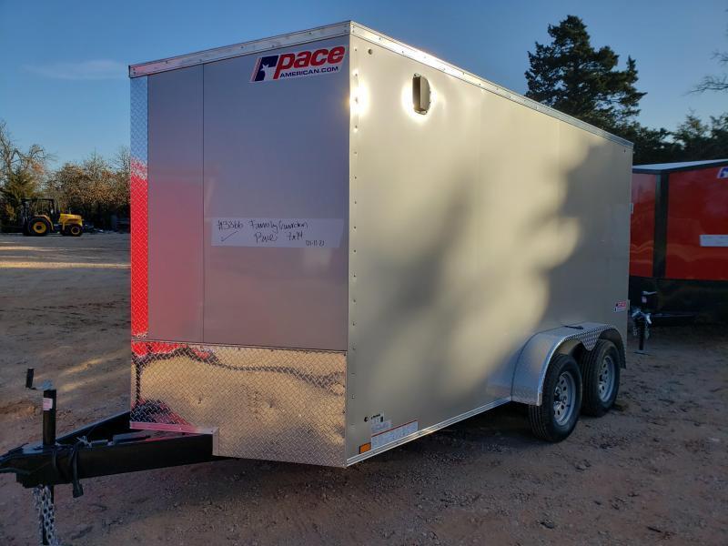 2022 Pace American 7x14 Tandem Axle Enclosed Cargo Trailer- Screwless Exterior