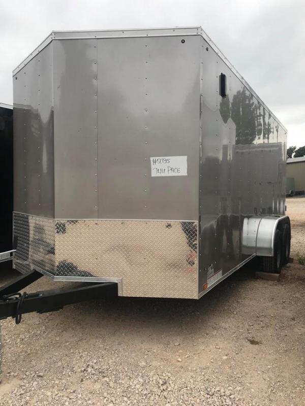 2021 Pace American 7x16 Tandem Axle Enclosed Cargo Trailer-- NEW!!!