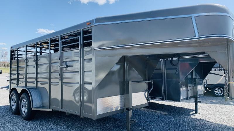 "2021 Calico Trailers 16x6x6'6"" GN Livestock Trailer"