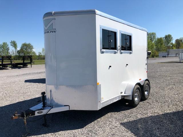2017 Merhow Trailers Bronco 2 horse slant load bumper pull Horse Trailer