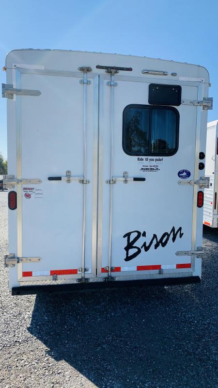 2014 Bison 7408 GN Horse Trailer