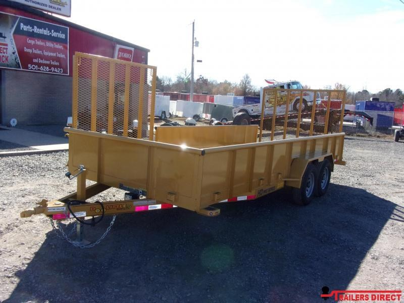 2020 Doolittle Trailer Mfg Cat Yellow 84 x 18 10000 lb Utility Trailer