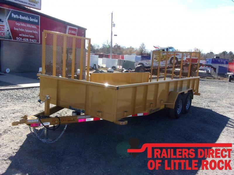 2020 Doolittle Trailer Mfg Cat Yellow 84 x 18 10000 lb Utility Trailer