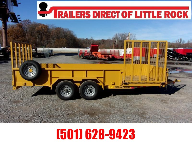 Doolittle Cat Yellow 84 x 18 10000 lb Utility Trailer EZ-LIFT GATE ON BACK AND SIDE