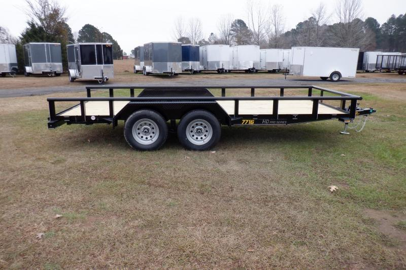 Doolittle 77X16 7K Utility Trailer SELF STORE RAMPS