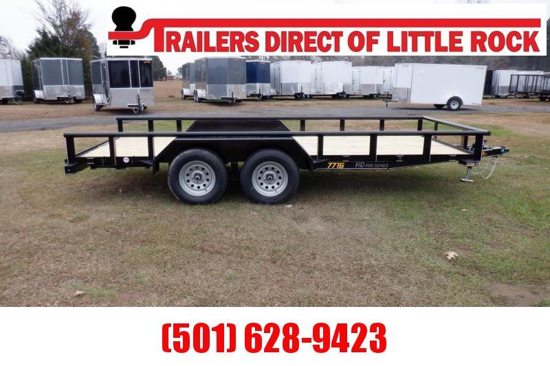 Doolittle 77X16 7K Utility Trailer SELF STORE RAMPS