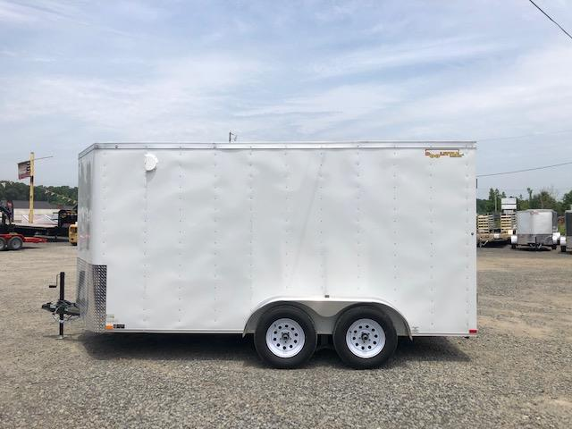 Doolittle  7x14 White Ramp Door Enclosed