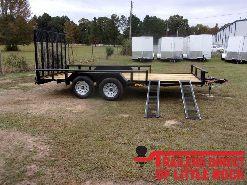 2021 Doolittle 84x16 7K GVWR Utility Trailer5' gate and atv ramps