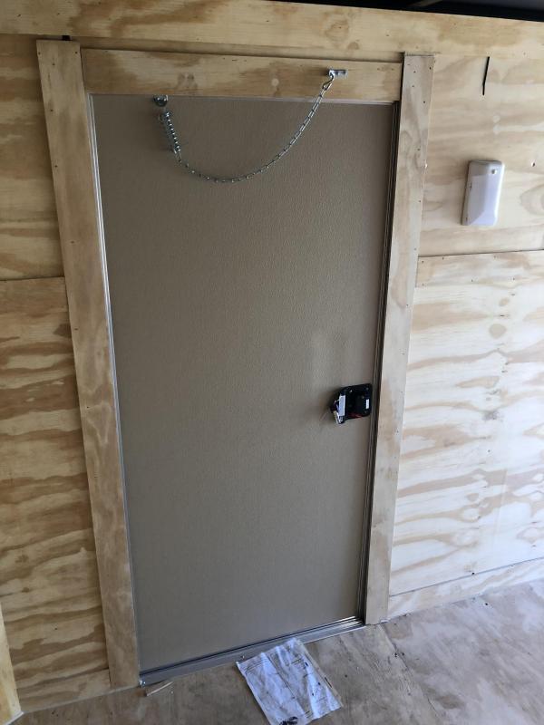 2019 Doolittle Trailer Mfg Razorback 7X16TA Black Barn Door Enclosed Cargo Trailer