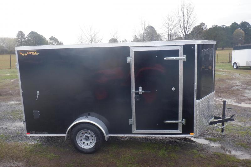 Doolittle Premier 6x12 Black Barn Door Enclosed Cargo Trailer