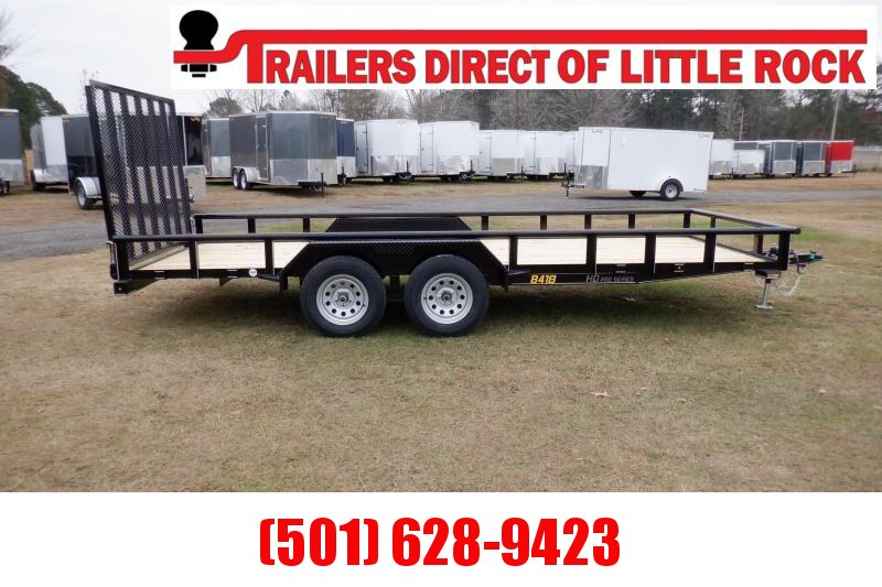 "Doolittle  84x18 7K gvwr Utility Trailer 5"" ez-lift gate"