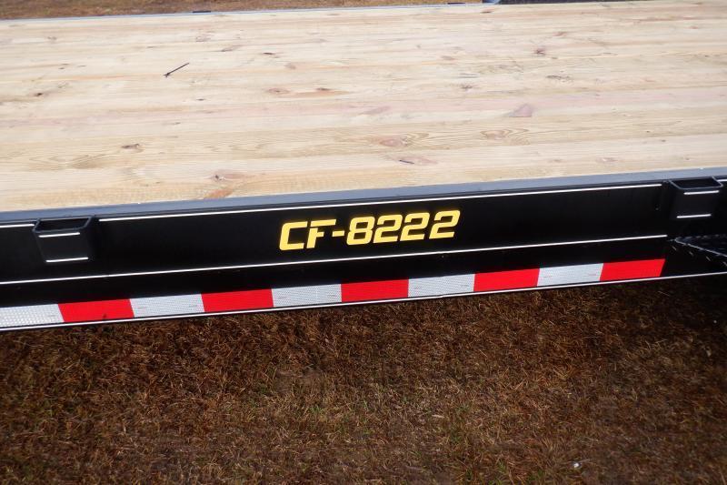 Doolittle Channel Flatbed 82x22 14K Equipment Trailer Flip up Ramps