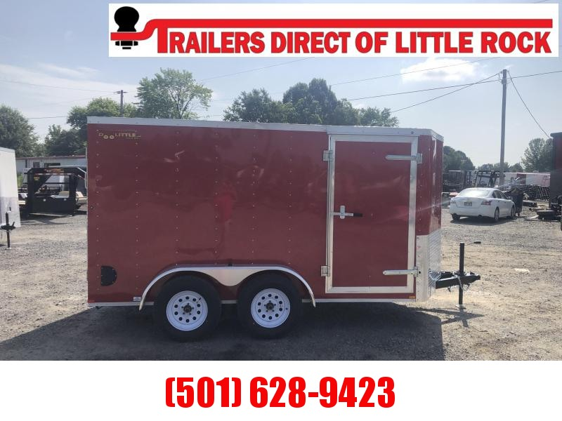 Doolittle  6x12 TA Red Ramp Door Enclosed