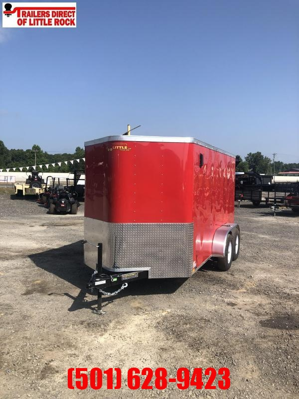 Doolittle  6x12 TA Red Ramp Door Enclosed Cargo Trailer