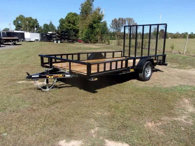 2021 Doolittle 84X14 Utility Trailer 5' Rear Gate and Side ATV Ramps