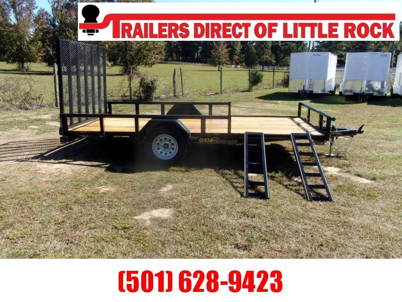 Doolittle 84X14 Utility Trailer 5' Rear Gate and Side ATV Ramps