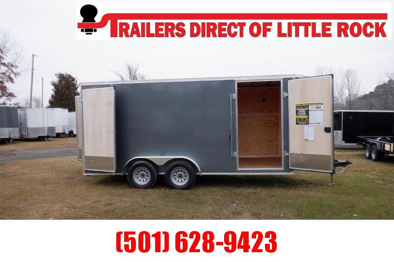 Doolittle Bullitt 7X16 7K Enclosed Cargo BARN DOOR