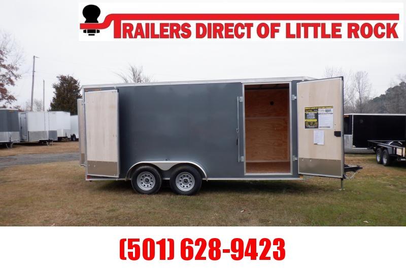 Doolittle Bullitt 7X16 7K Enclosed Cargo BARN DOOR