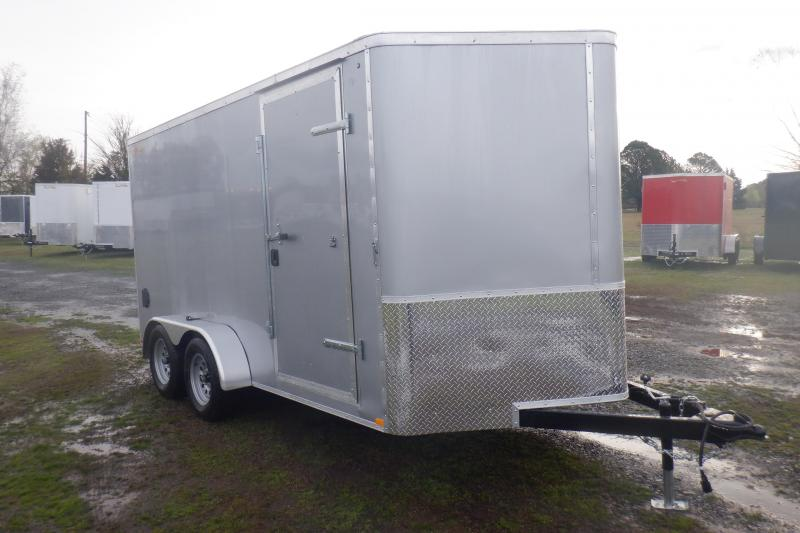 Doolittle Premier 7x14 Silver Enclosed Cargo Rear ramp