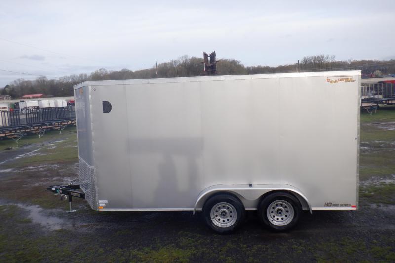 Doolittle Premier 7x14 Silver Enclosed Cargo Rear ramp