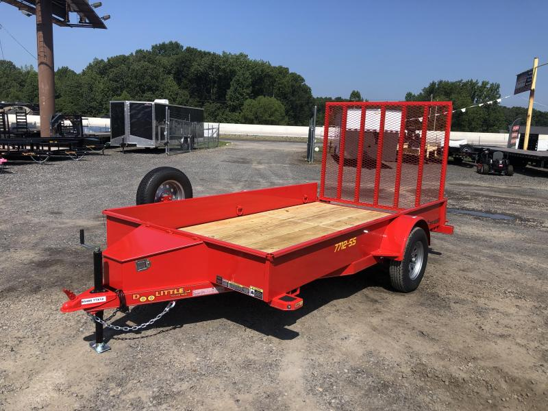 RENTAL Doolittle  Solid Side 77x12 S/A Utility Trailer
