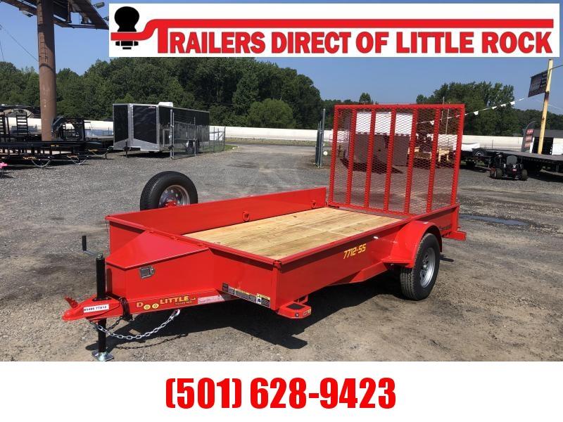 RENTAL Doolittle  Solid Side 77x12 S/A Utility Trailer