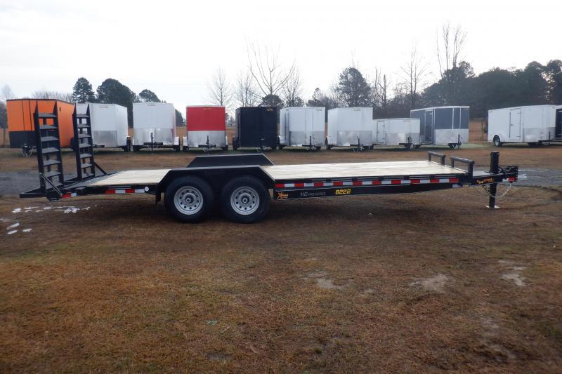 Doolittle  Xtreme 82x2214K GVWR  Equipment Trailer Flip up Ramp