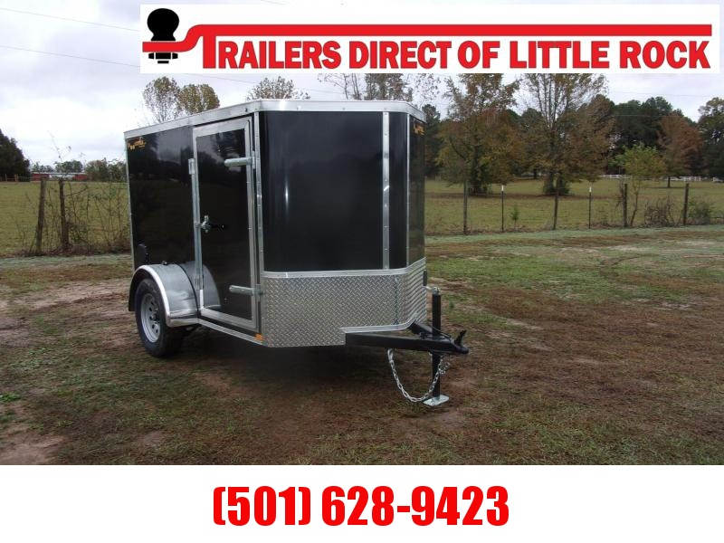 Doolittle  5X8 BLACK Enclosed Rear Ramp & Side Door