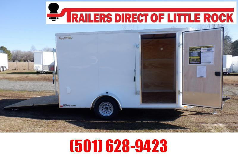Doolittle  Premier 7x12 Enclosed Cargo Trailer Rear Ramp