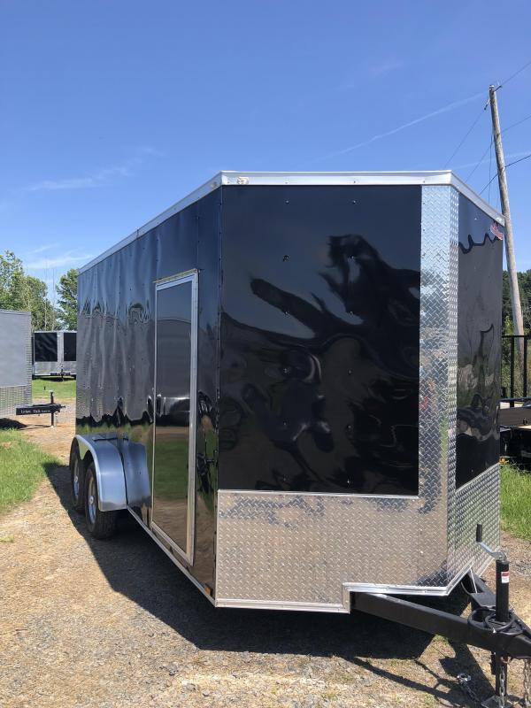 2019 Doolittle Trailer Mfg Razorback 7X16TA Black Ramp Door Enclosed Cargo Trailer 12